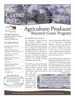 2014 Winter/Spring Cornerpost Newsletter